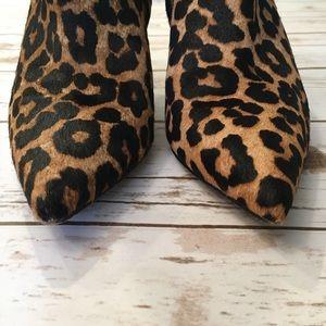 7b810c5817e0b2 Sam Edelman Shoes - Sam Edelman Karen Calf Hair Booties Leopard Size 7